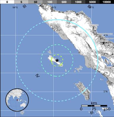 Epicentro terremoto Indonesia, 25 de Julio 2012