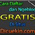 Cara Daftar dan Ngeblog Gratis di Situs Dicuekin.com