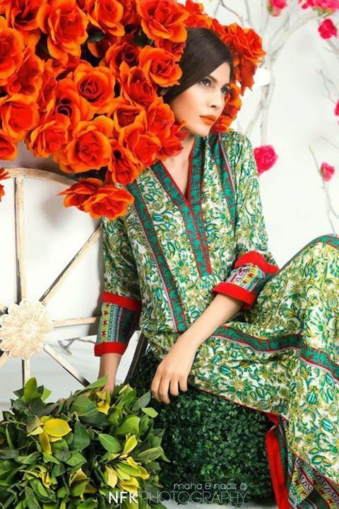 The Colors of Spring Bonanza Pret Lawn huma khan