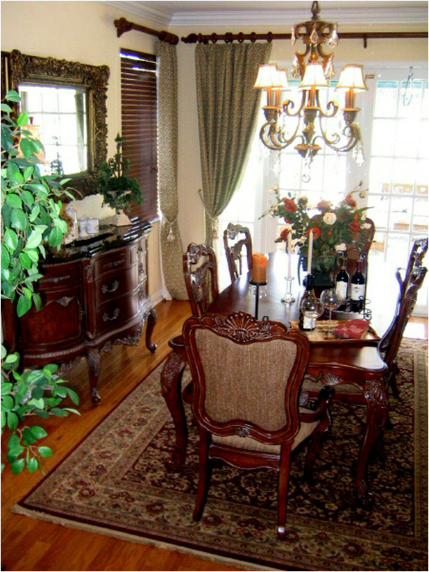 Traditional dining room decor finest traditional dining for Traditional great room designs