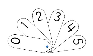 Printable Number Fan
