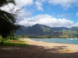 Hanalei Bay on the Island of Kauai