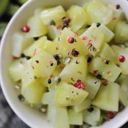 Indian vegetarian side dish Steamed Chayote