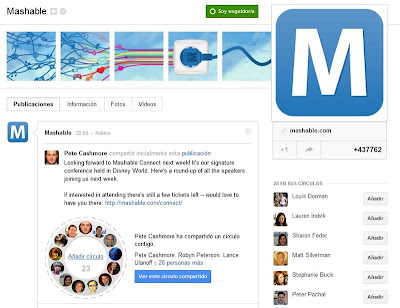 mashable google plus