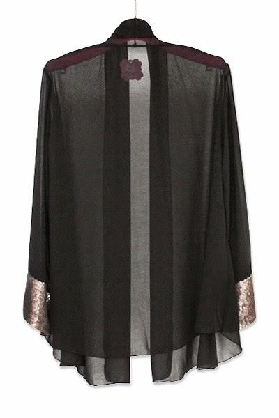 Sequin Kimono-Black