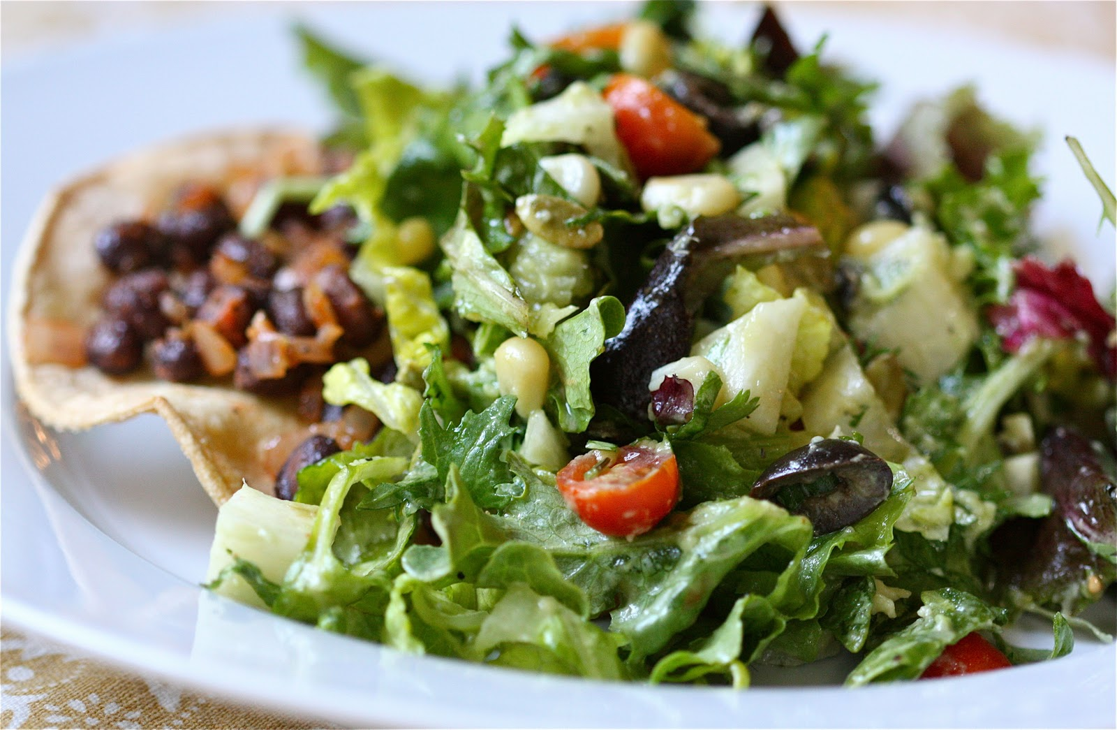 savory nest: Tostada Salad... Salad {with Avocado-Cilantro-Lime ...