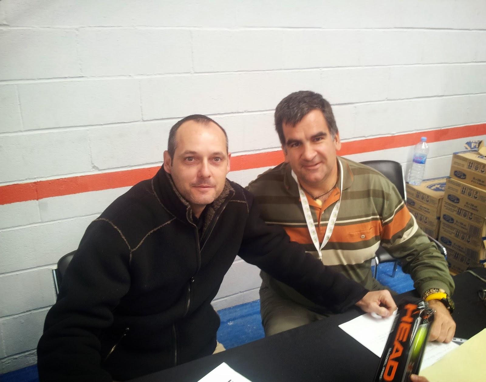 Pedro Moreno y el autor del blog en la entrevista mantenida en Sevilla