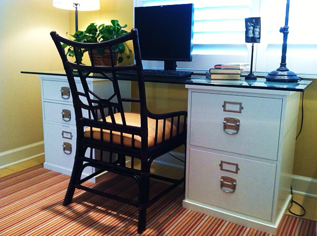 savvy mode easy diy desk idea with ugly file cabinet
