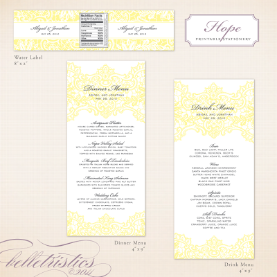 vintage romantic lace printable diy dinner drink menu designs