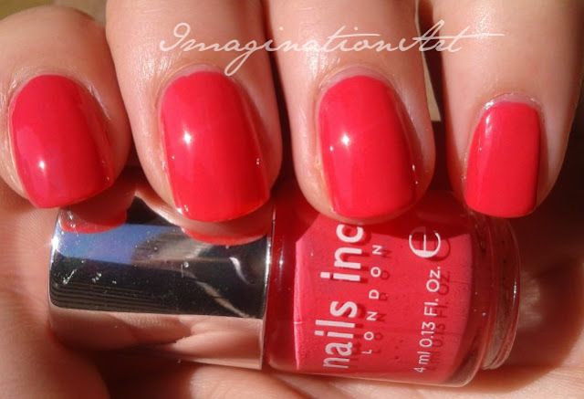 nails inc. brook street rosa pink coral corallo swatches swatch smalto polish nail lacquer unghie