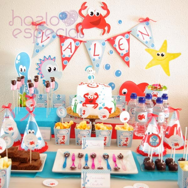 Hazlo especial fiesta animalitos del mar - Cumple 2 anos decoracion ...
