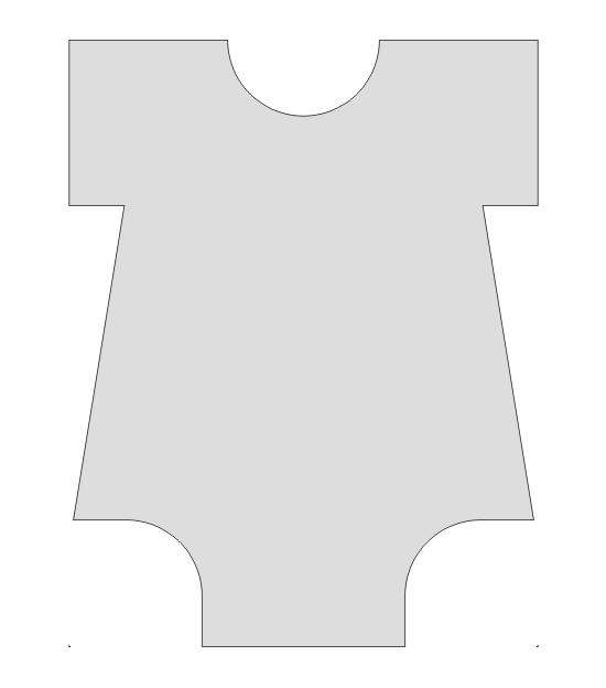 Baby Onesie Template Using a onesie template (which