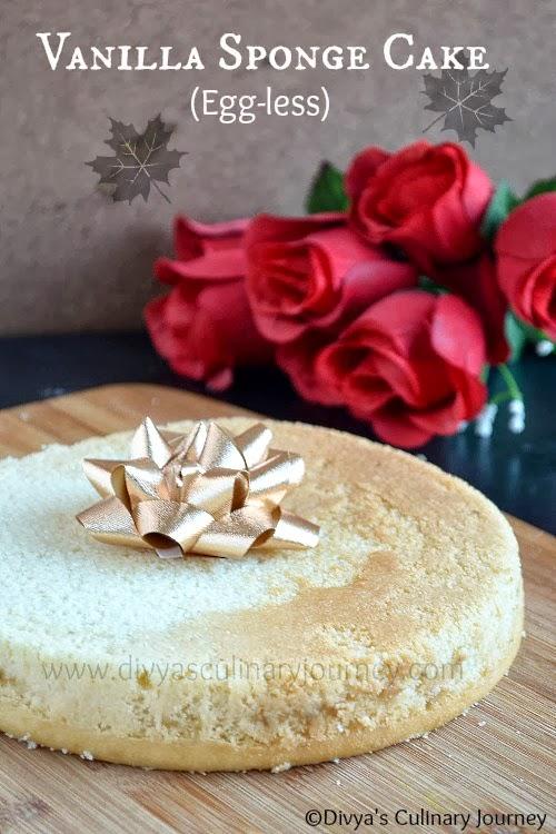 Eggless Vanilla Sponge Cake Recipe In Pressure Cooker