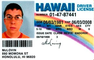 mclovin hawai driver license id card superbad funny