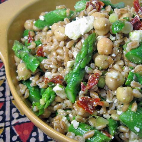 Burp! Recipes: Farro Salad with Asparagus & Feta