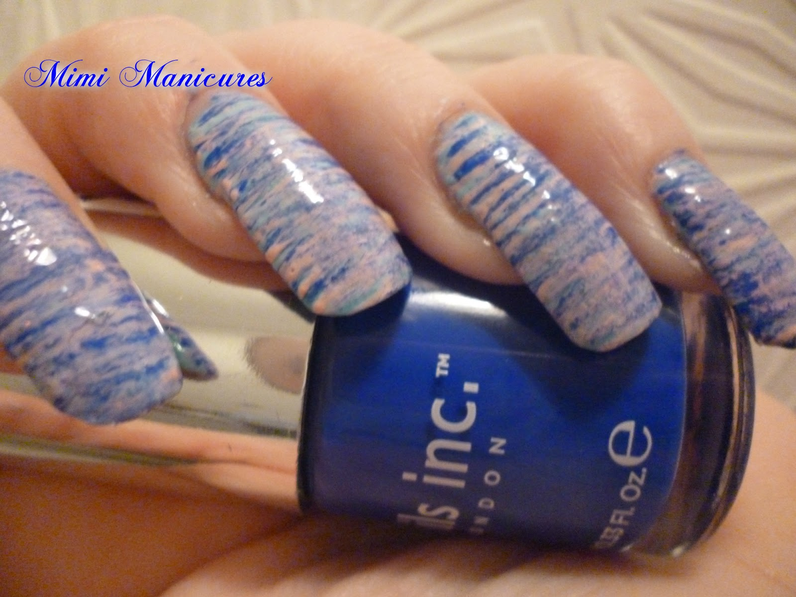 my adventures in nail polish: FFF fan brush nails