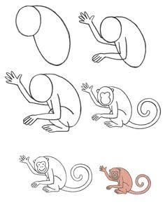 рисуем обезьяну мартшыку поэтапно карандашом