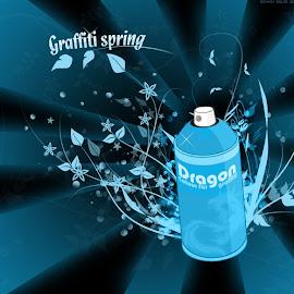 Gambar graffiti di dinding