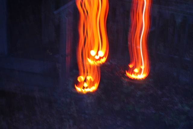 haunted jack-o-lanterns