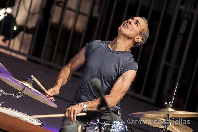Bobby Previte (The New Standard Trio), Plaza de la Trinidad, Donostia, 25-7-2015