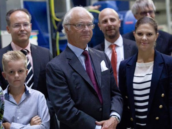 King Carl Gustav of Sweden and Crown Princess Victoria of Sweden attended the opening of the Oskarshamn power station in the county of Kalmar