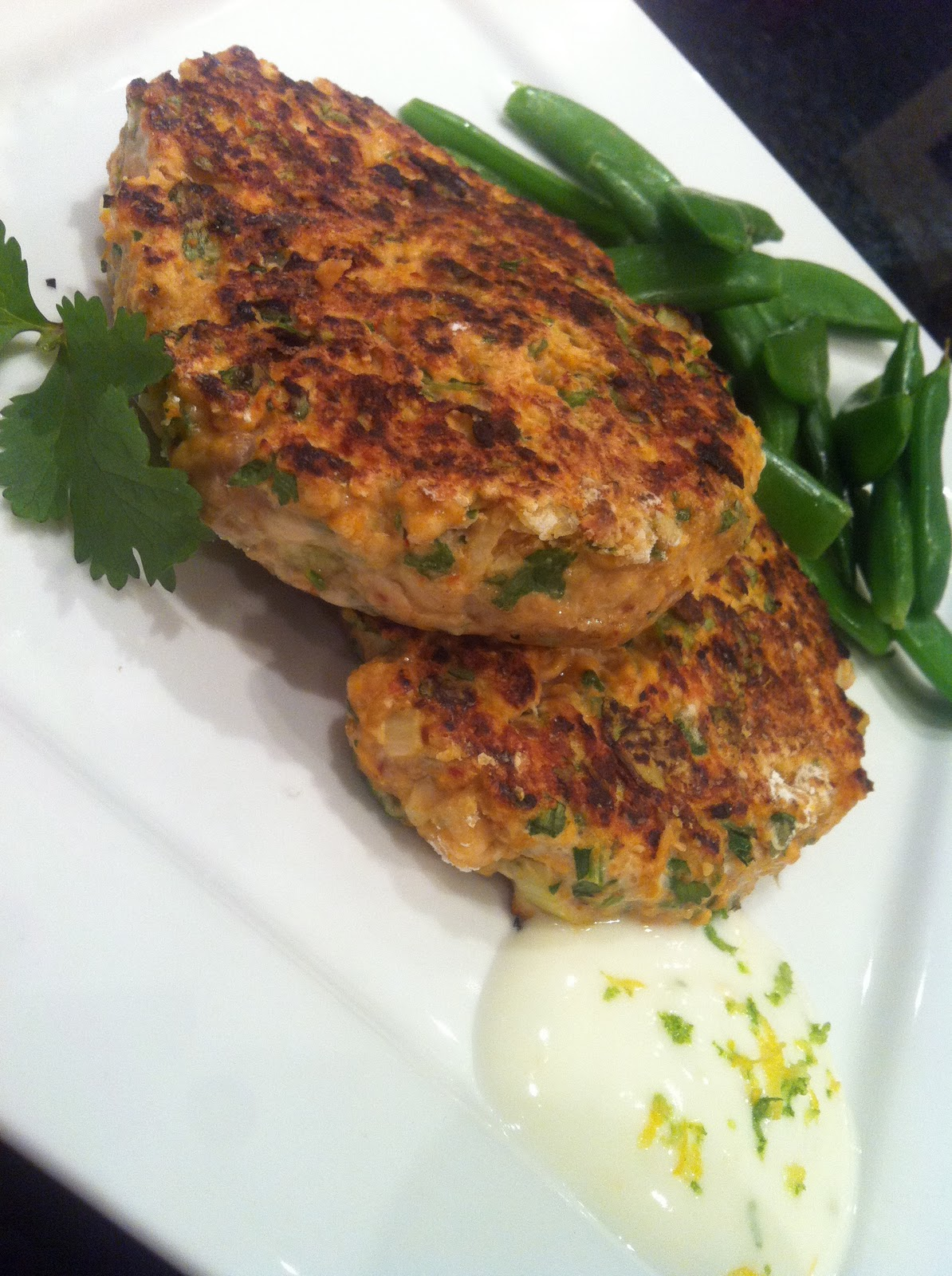 Thyme on your hands delicious fast simple healthy for Salmon fish cake recipe