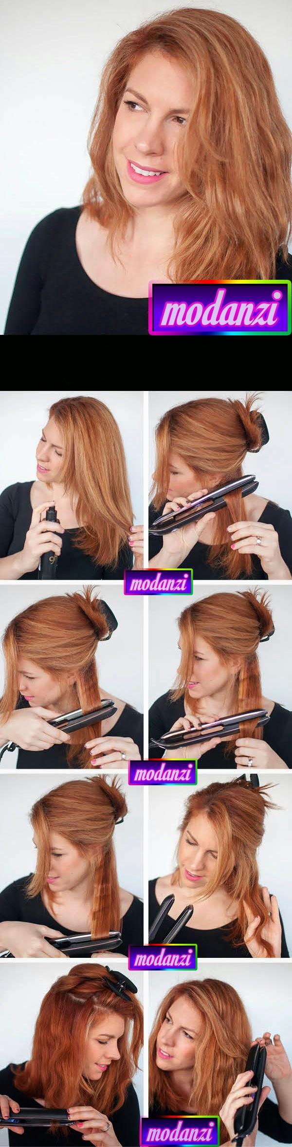 Düzleştirici İle Pratik Dalgalı Saç Nasıl Yapılır ? ( Resimli Anlatım )