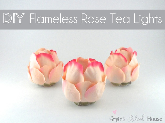 DIY Project: Flameless Rose Tea Lights