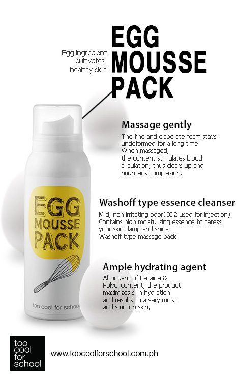 Noona Teaaa Too Cool For School Egg Mousse Pack