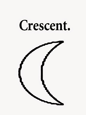 Easy moon crescent printable geometry shapes undemanding drawings school coloring clipart and words