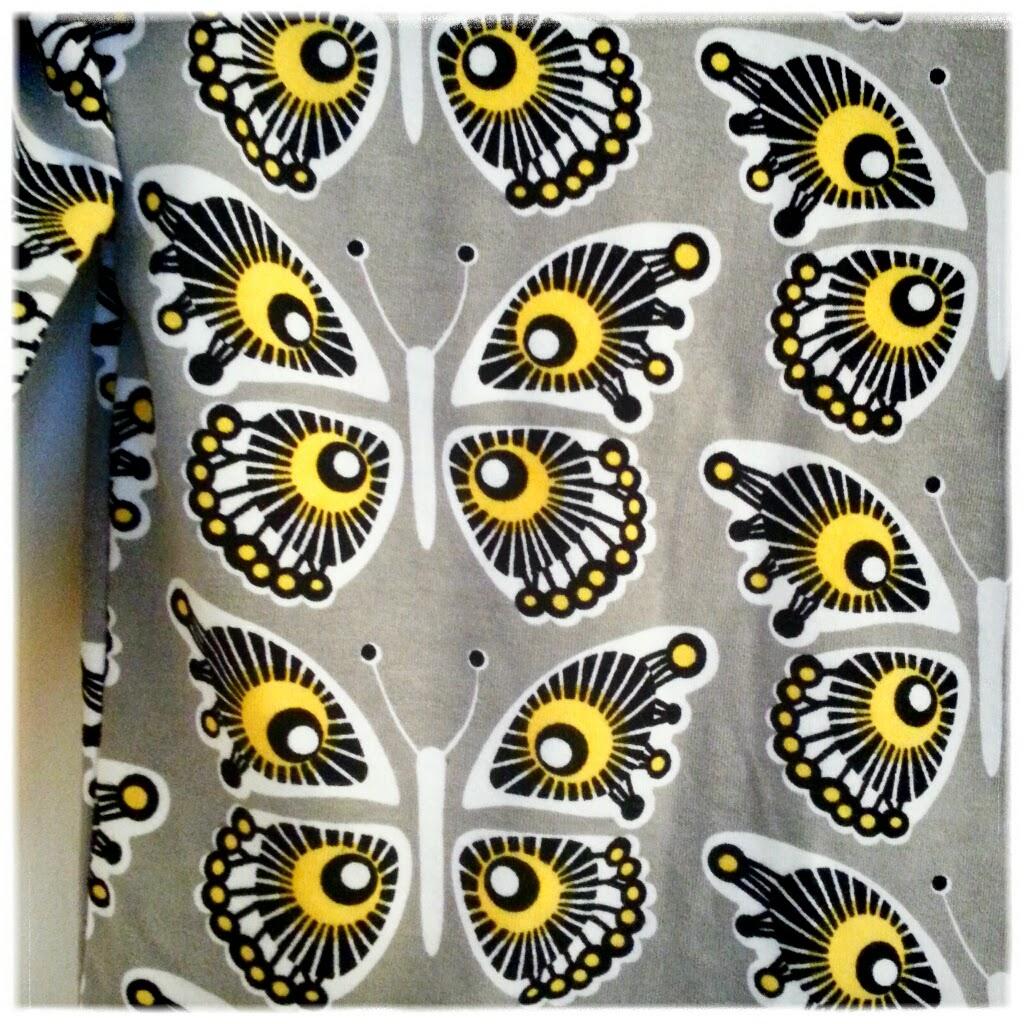 finsk jersey fjärilar tyg