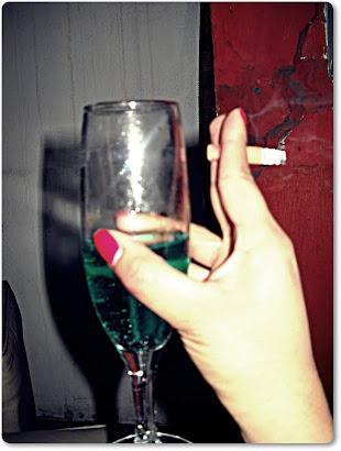 Alcoholic kind of mood.