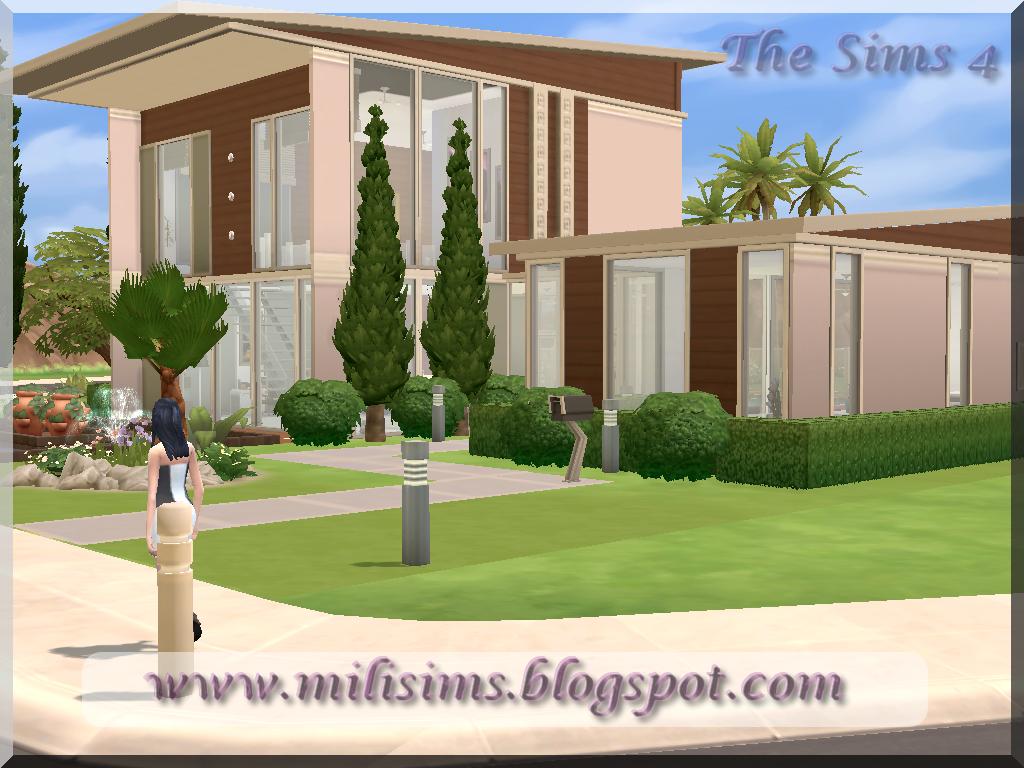 Casa moderna the sims 4 for Casas modernas sims 4 paso a paso