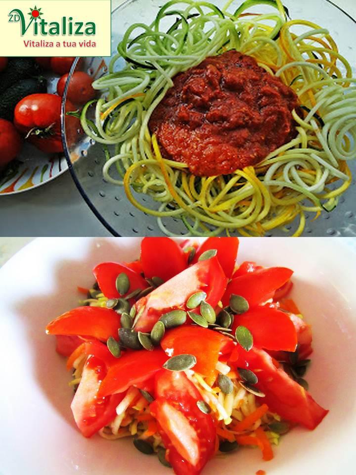 esparguete de courgete