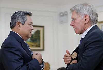 Harrison Ford and SBY, Harrison Ford interview Indonesian president