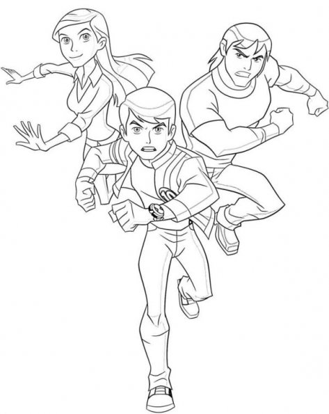Coloring Pages For Ben 10