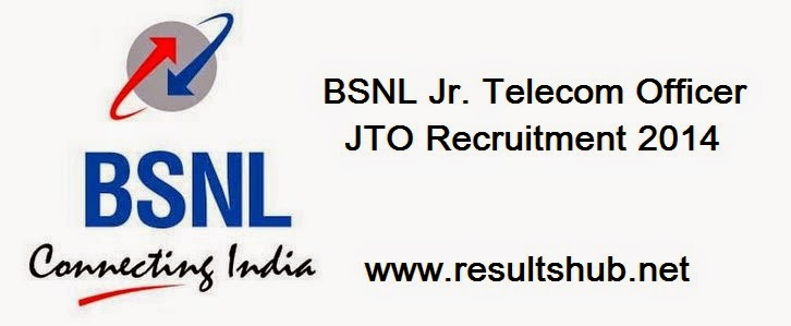 BSNL Jr. Telecom Officer JTO Recruitment 2014