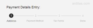 Payment Details Entry - Cara Seting Pendapatan Penerimaan Pembayaran GoDaddy