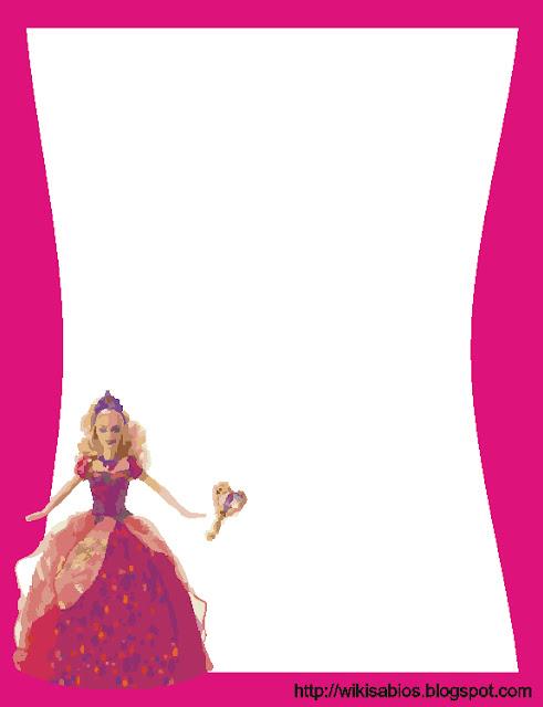 bordes de barbie, bordes rosados, bordes para niñas, bordes rosados para niñas, imagenes de barbie para paginas, bordes de barbie para paginas, imagenes para decorar carpetas de niñas