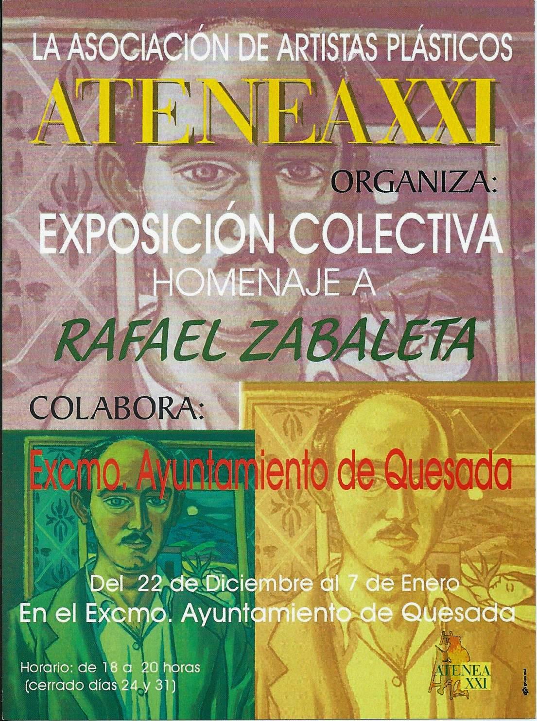 Exposición Homenaje a Zabaleta en Quesada