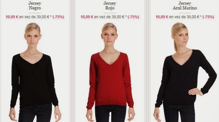Tu jersey negro, rojo o azul marino al mejor precio.