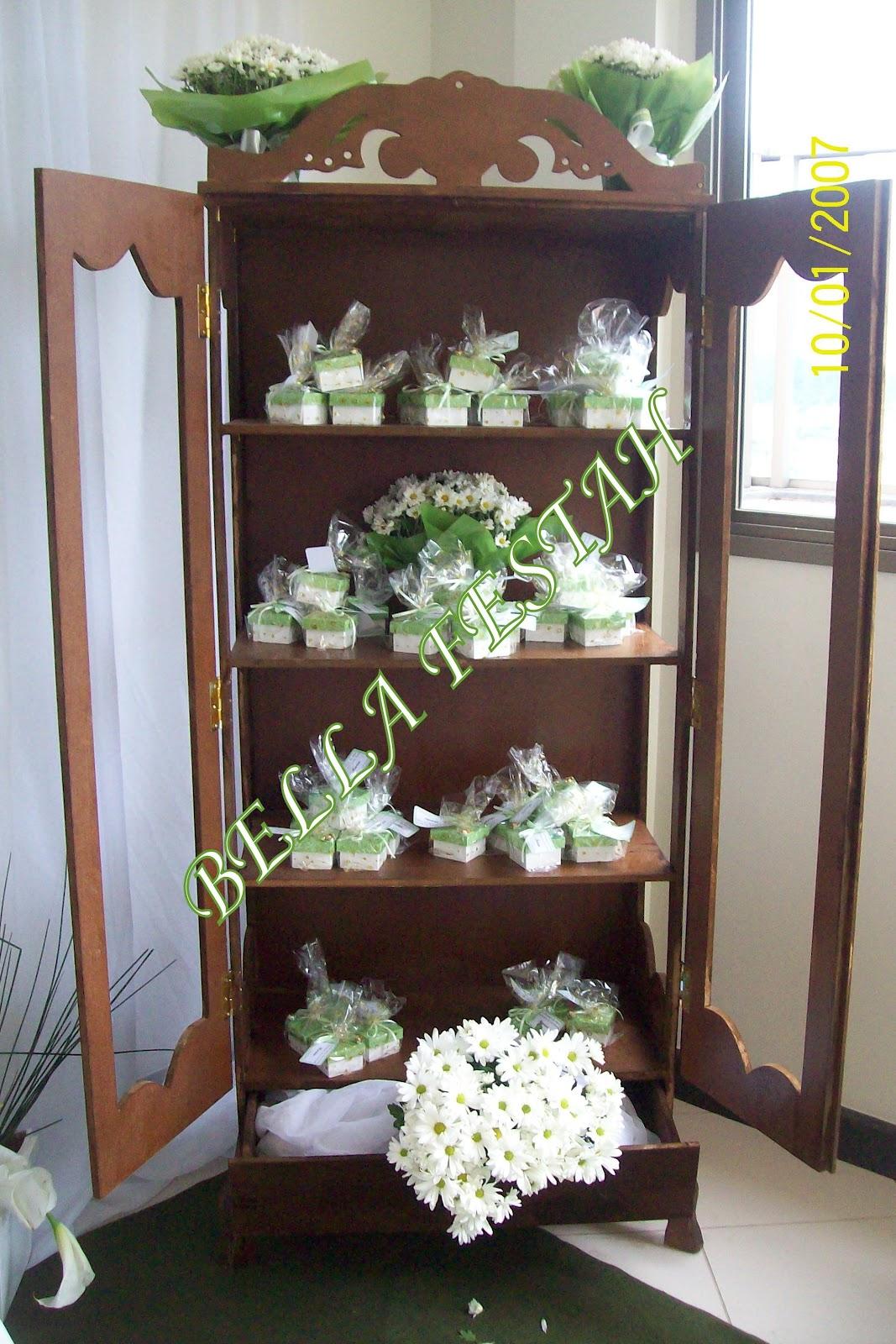 bella festah festa de 60 anos verde branco com mob lia