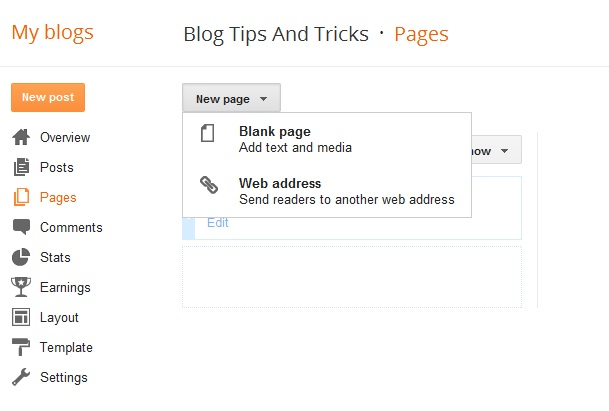 how to create a blank html page