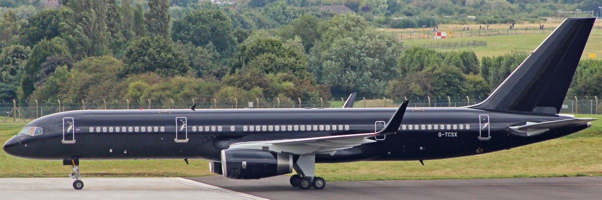 Wednesday 27 august 2014 tag aviation boeing 757 2k2 g tcsx arrives