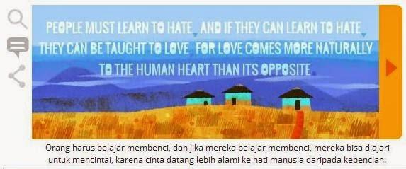 Kutipan kedua Nelson Mandela di Google (dok. print screen google)
