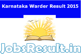 Karnataka Warder Result 2015