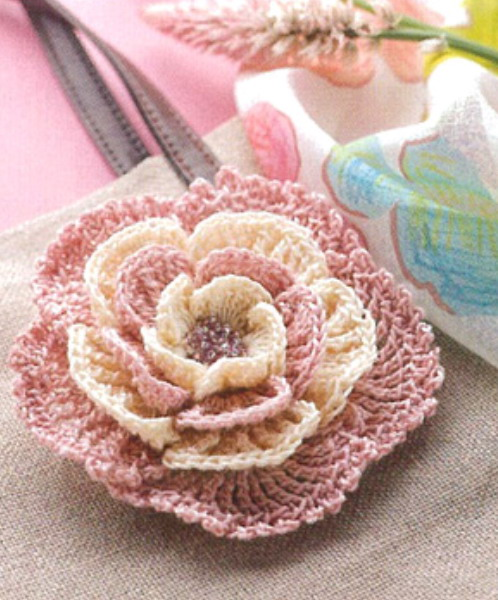 Crochet Flower Pattern Pictures : Knitting And Beading Wedding Bridal Accessories and Free ...