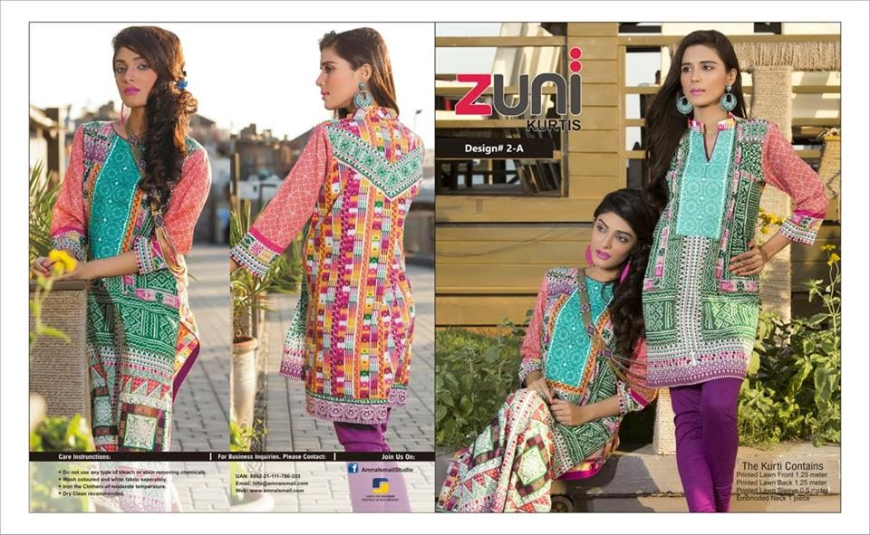 Zuni Kurti Collection 2015 for Girls