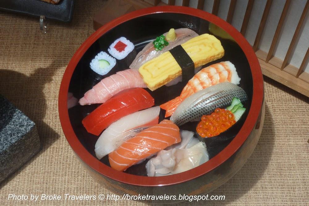 fake plastic sushis