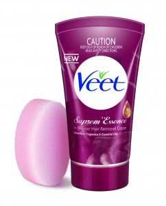 how to use veet hair removal cream with sponge